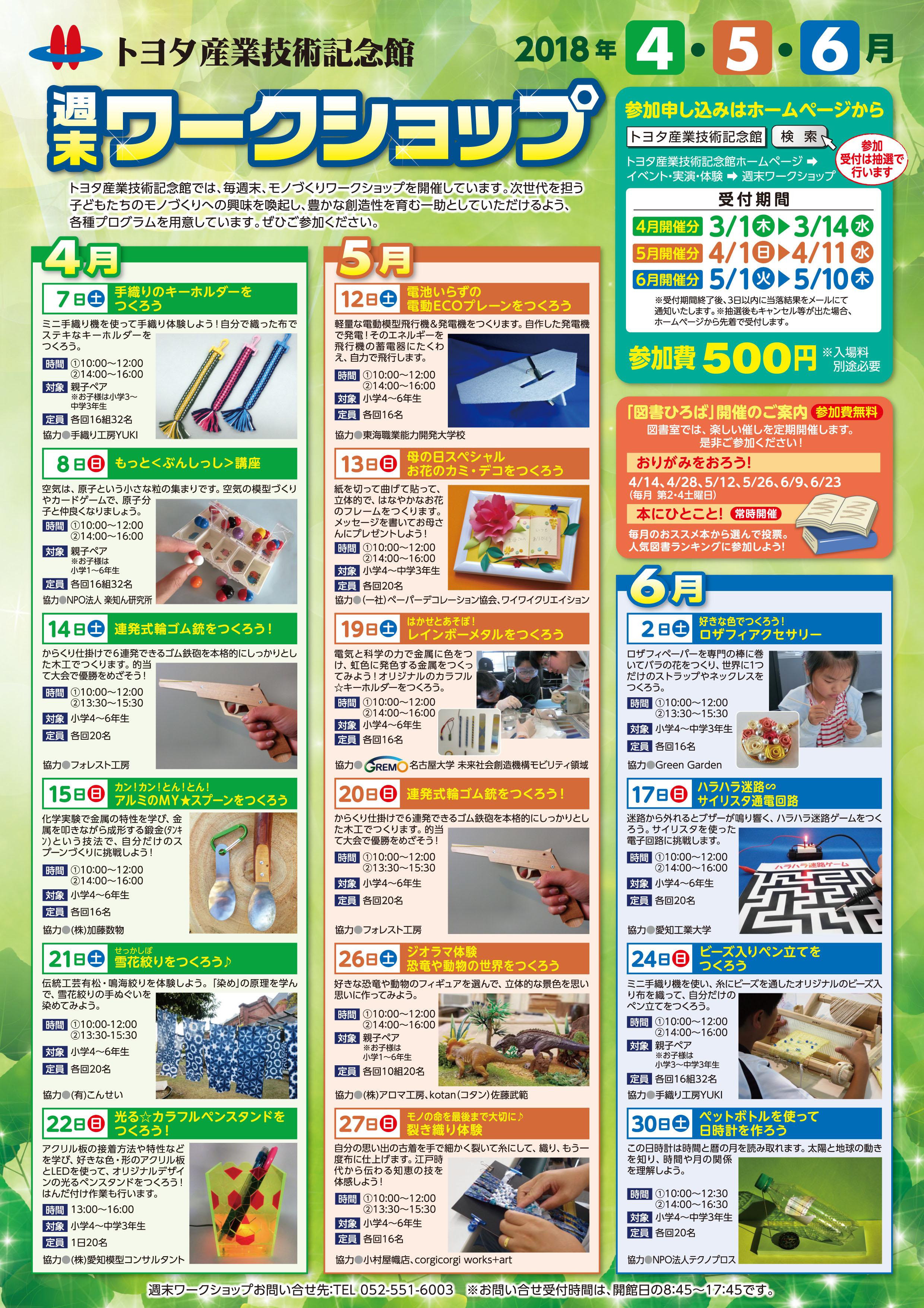 トヨタ産業技術記念館週末ワークショップ加藤数物